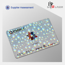 Cartão de identificação personalizado variável transferência holograma fita Overlay