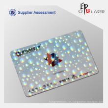 Personalizada tarjeta de la identificación del holograma recubrimiento con personalizar el tamaño de la insignia como 84 * 52 MM