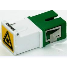 Sc / APC Adaptador de fibra óptica con obturador, sin brida