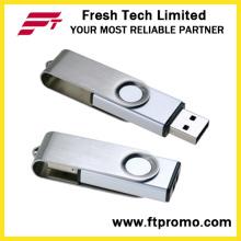 Nueva impulsión del flash del USB del eslabón giratorio del metal del diseño (D308)