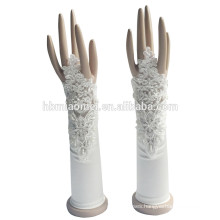 2017 Glove factory direct sales fingerless bridal gloves with flowers decoration
