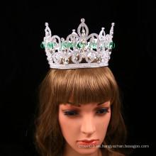 Corona clara de diamantes de imitación