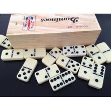 Domino de plástico al por mayor con caja de madera