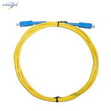 Cordons de raccordement de fibre optique de SC / UPC, mode simple, perte d'insertion de 0.2dB de fibre de simplex / duplex