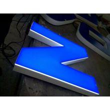 Tinta spray sinal 3D aço inoxidável aço de madeira cor moda LED Backlit canal carta sinal