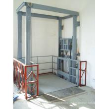 Stationäre hydraulische Führungsschienen-Aufzug-Plattform für Fabrik