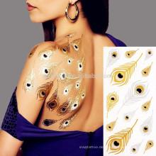 Lieferant machen sicher Material schöne wasserdichte Rückenhaut Tattoo Aufkleber