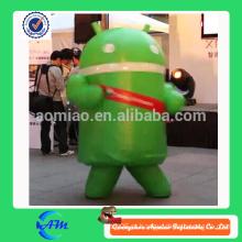 Android traje de mascote costume inflável android traje personalizado para venda