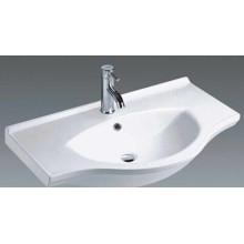 Top Mounted Bathroom Ceramic Vanity Basin (1100)