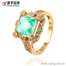 Latest Fashion Gold-Plated Diamond CZ Jewelry Finger Ring in Nickel Free for Women -13540