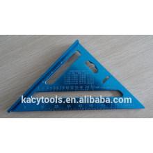 Alumínio triângulo régua, triângulo de alumínio quadrado régua
