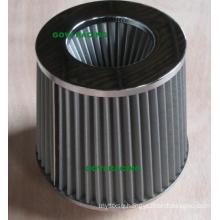 Stainless Steel Car Air Filter 76mm Chromed Top Air Intake Pipe