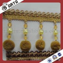Schöne dekorative Pompom Vorhang Fringe für Vorhang Zubehör, Match Drapery Stoff verwendet