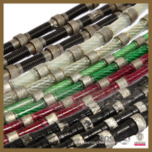 Diamond Wire Saw for Quarry Profiling Block Cutting Rubber Coat Spring Fixing Plastic Fixing Sunny Professional a Quality