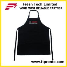 100% poliéster/algodão OEM personalizado impresso promocional de cozinha avental do Bib
