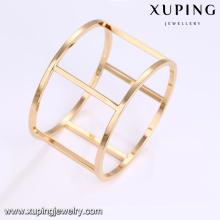 Joyería especial del brazalete del oro del saudí de la forma de alta calidad promocional 51665 para las mujeres