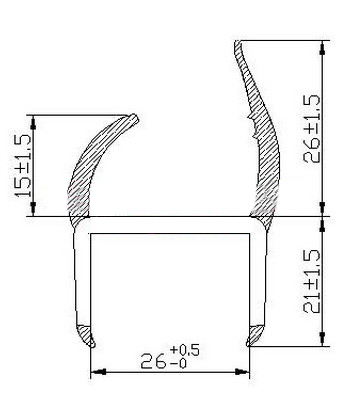 Auto Weather Stripping Seal Gasket