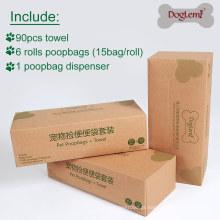 Pet Dispensador de Saco de Cocô Com Dispensador de Pet Dispenser Cocô Toalha de Tecido Para Pet Waste Bag Holder