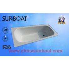 60 Zoll Skidproof Emaille Stahl Badewanne / Bad Wasch Tub Health Grade