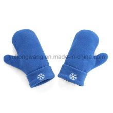 Hot vendiendo tejidos guantes polares cálidos de paño grueso / manoplas