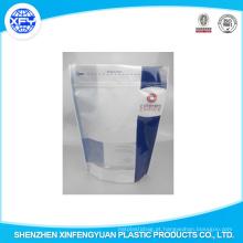 Stand Up bolsa com Zipper Food Packaging Bag, gusset inferior, logotipo impresso, saco de plástico