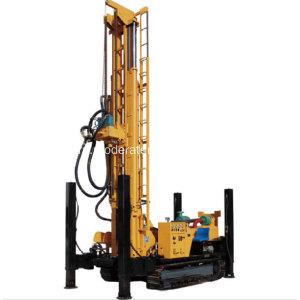 400M+Crawler-mounted+Rotary+Hydraulic+Borewell+Drilling+Rig