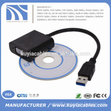 Black USB 3.0 To VGA Multi-Display Adapter Converter External Video Graphic Card