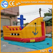 Cute tortoise ship design haunted bounce house/frozen castle, AM bouncy castle wholesalers