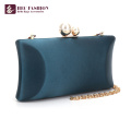 HEC New China Products Fashion Green Small Satin Shoulder Bag For Lady