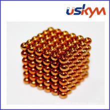 Jouet à boule magnétique 216balls en orange et de revêtement (T-008)