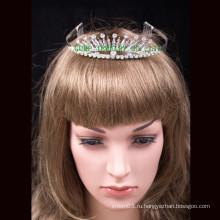 Свадебная корона пользовательских тиары кристалл полная круглая корона тиара