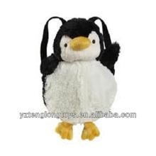 Fábrica de animales al por mayor en forma de mochila de peluche mochila Penguin