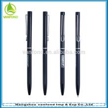 2015 popular slim cross hotel used metal aluminum material promotional ball pen