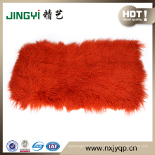 Wholesale High Quality long hair Tibetan mongolian sheepskin fur plates