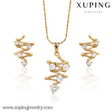 62716-Xuping Imitation diamant ensemble de bijoux plaqué or ensemble de bijoux