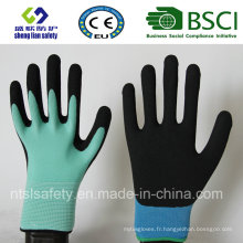 13 Gauge Nylon Liner, Nitrile Coating, Sandy Finish Safety Work Gloves (SL-NS102)