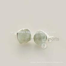 Venta al por mayor Mejor Calidad Natural Gemstone Pendientes, 925 Sterling Silver Bezel Pendientes Joyería Proveedor