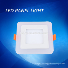 Blaue / weiße Farbe doppelte Farbe LED-Panel Licht, doppelte Farbe quadratischen Licht LED-Panel