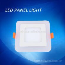 Bleu / blanc couleur double couleur led panneau de lumière, double couleur panneau carré LED