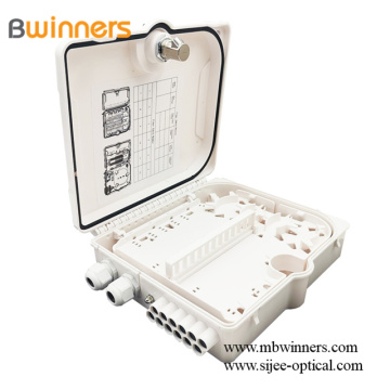 1X8 Ftth Plc Splitter Fiber Distribution Box 12 Core Termination Boîtes