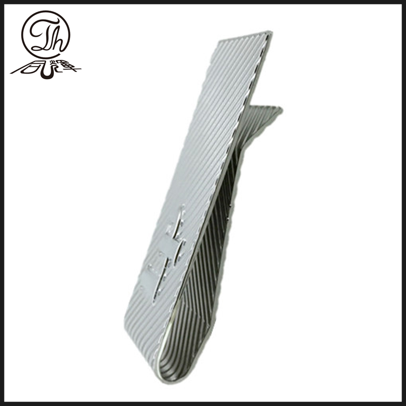 Silver embossed money clip metal