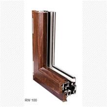Massivholz verkleidet Luxus Aluminium Türen und Fenster