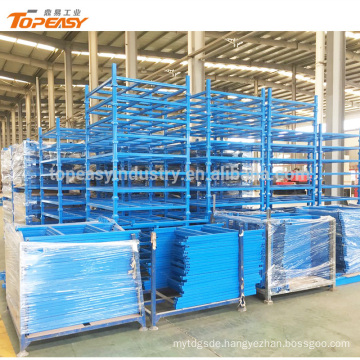 Stackable heavy duty steel frame rack for goods storage
