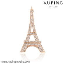 00045-xuping fashion rose gold Eiffel Tower shape brooch