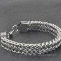 European American-Style Men's Bracelet Weave pattern Titanium Steel Bracelet