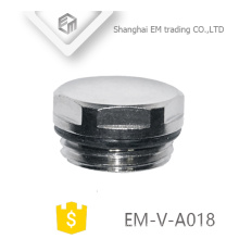 EM-V-A018 Brass air valve cap nickle plated threaded blind plug end