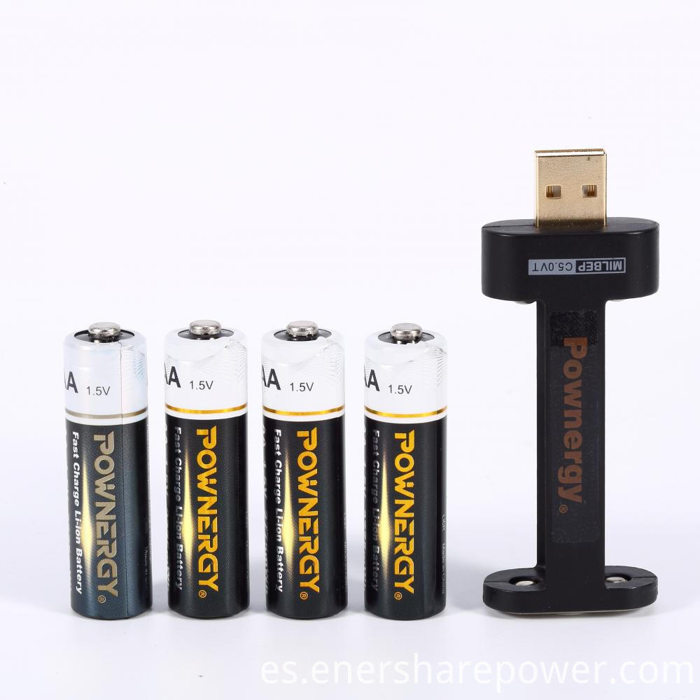 aa lithium battery charger