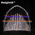 5 pouces Rainbow Crystal Rhinestone couronnes
