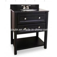 Tocador de baño de madera maciza clásica (BA-1107)