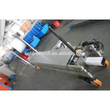 Máquina formadora de tubos cuadrados de bajada